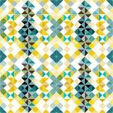 Färgrik bakgrund för sömlös geometrisk modell av små PIXEL stock illustrationer