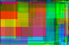 Färgrik bakgrund för strömkrets Arkivbilder