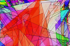 Färgrik bakgrund för trianglar Royaltyfri Bild