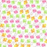 Färgrik bakgrund för vektor för blommamodell Royaltyfria Bilder