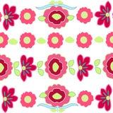 Färgrik bakgrund för vektor för blommamodell Fotografering för Bildbyråer
