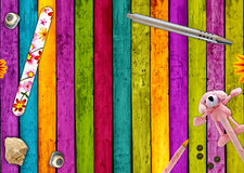 färgrik bakgrund flickaktigt Arkivbilder