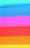 Färgrik bakgrund från dricka sugrör Royaltyfria Bilder
