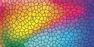 Färgrik bakgrund med efterföljd av kulört exponeringsglas arkivbild