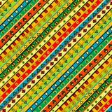 Färgrik bakgrund med geometriska former Royaltyfria Bilder
