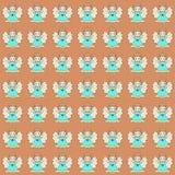 Färgrik bakgrund med gulliga små änglar eller feer vektor illustrationer