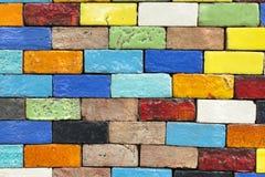 Färgrik bakgrund med tegelstenväggar Royaltyfria Bilder