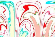 Färgrik bakgrund och skuggor för runda former abstrakt Fotografering för Bildbyråer