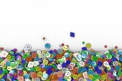 Färgrik bakgrund som göras från sömnadknappar vektor illustrationer