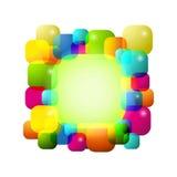 färgrik bakgrundsbubbla Arkivfoton