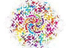 Färgrik bakgrundsdesign för vektor abstrakt mosaik för bakgrundsdesignillustration Royaltyfria Foton
