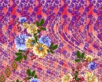 färgrik bakgrundsdesign och blomma Arkivfoton