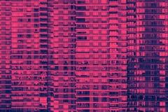Färgrik bakgrundsmodell av fönster på en modern byggnad i New York City arkivbild