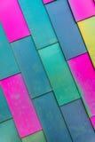 Färgrik bakgrundsmodell av vinylsidingen Arkivbilder