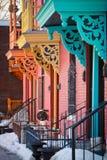 Färgrik balkong Fotografering för Bildbyråer
