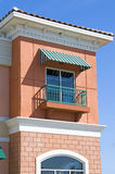 färgrik balkong Arkivbilder