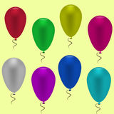 färgrik ballong Arkivbilder