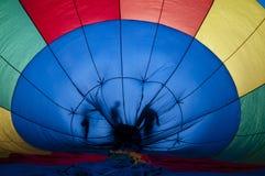 Färgrik ballong för varm luft Royaltyfri Foto