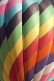 Färgrik ballong för varm luft (closeupen) Arkivbild