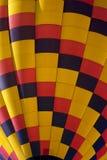 Färgrik ballong för varm luft (closeupen) Royaltyfria Foton