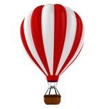 färgrik ballong för varm luft 3d Royaltyfri Foto