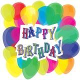 Färgrik ballongvektor för lycklig födelsedag Royaltyfria Bilder