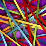 färgrik bandvektor för bakgrund Royaltyfria Bilder