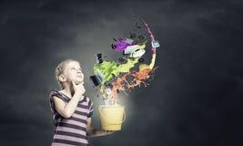 Färgrik barndom! Royaltyfri Bild