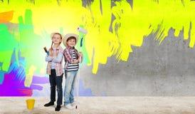 Färgrik barndom Arkivbilder
