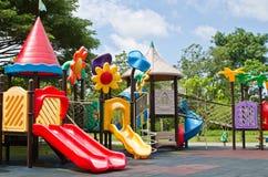 Färgrik barnlekplats Royaltyfria Bilder