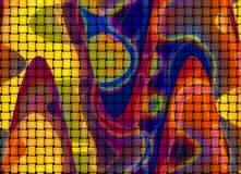 Färgrik belagd med tegel bakgrund Royaltyfri Foto