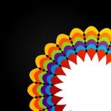 Färgrik beståndsdel för blom- design för rengöringsdukbruk Royaltyfri Fotografi