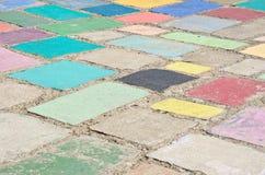 Färgrik betongjordning Arkivfoton