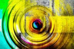 färgrik betongvägg Arkivbilder