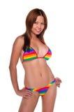 färgrik bikini Royaltyfri Fotografi