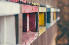 Färgrik bikupa Parkera av dåliga Hall arkivbild