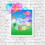 Färgrik bild på väggen Arkivbild