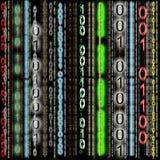 färgrik binär kod för bakgrund Fotografering för Bildbyråer