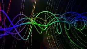 Färgrik blå bakgrund för Time-lopp spiral VJ vektor illustrationer