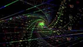 Färgrik blå bakgrund för Time-lopp spiral VJ stock illustrationer