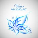 Färgrik blå blommaillustration Royaltyfri Fotografi