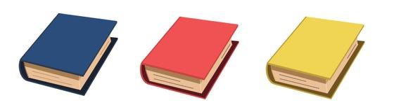 Färgrik blå röd guling för boksymbol royaltyfri illustrationer