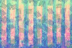 Färgrik blått- och rosa färgpapperstextur gör sammandrag grungekonstsumma Royaltyfri Bild