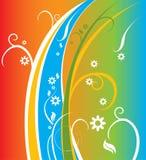 färgrik blom- fjäder för bakgrund Royaltyfri Bild