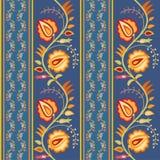 färgrik blom- folkprydnad Royaltyfri Fotografi