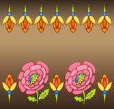 Färgrik blom- gränsbakgrund royaltyfri illustrationer