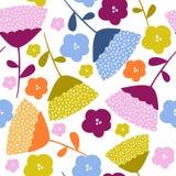 Färgrik blom- grafisk modelldesign royaltyfri fotografi