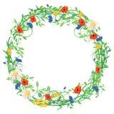Färgrik blom- krans Arkivfoton