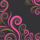färgrik blom- modelltwirlvektor Royaltyfri Fotografi