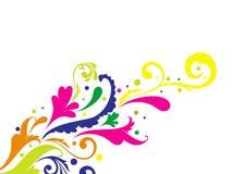 färgrik blom- modellvektor Arkivbild